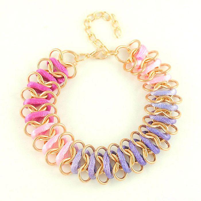 Knitted Omber Design Chain Bracelet
