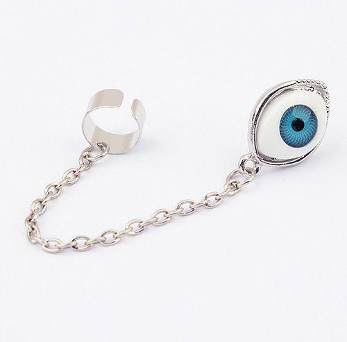 Alloy Long Tassel Design Eyeball Shape Earring