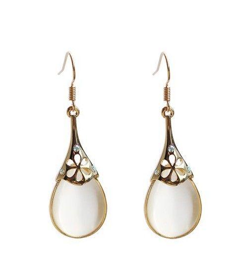 Water Drop Fake Opal Earrings