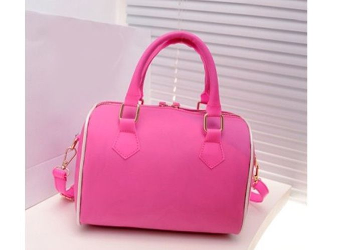 Elegant Candy Color and Pendant Design Women's Street Level Handbag