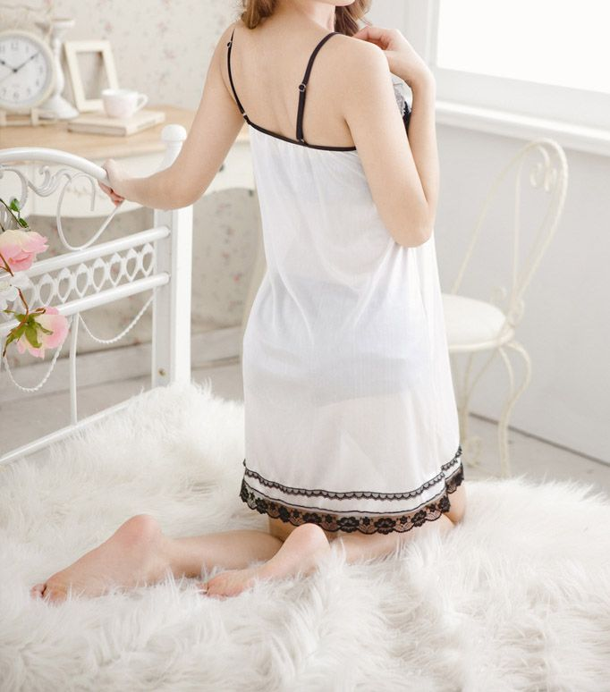Charming Lace Splicing Women's Baby Dolls Three-Piece Suit