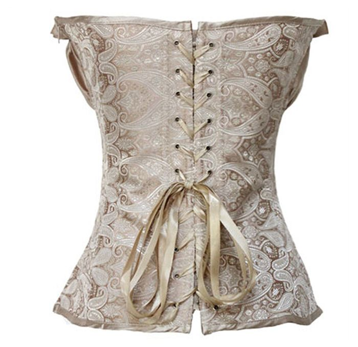 Vintage Wrapped Chest Ruffled Lace Up Women's Corsets