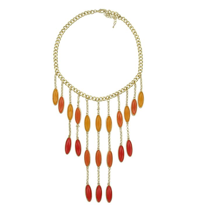 Bead Curtains Design Alloy Waterdrop Shape Necklace