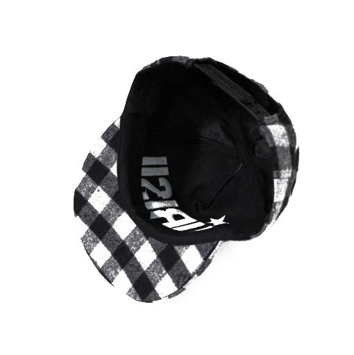 Fashion Lettered Little Ball Embellished Plaid Visor Hat For Women
