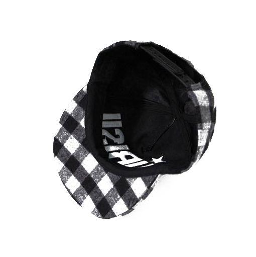 Fashion Lettered Little Ball Embellished Plaid Visor Hat For Women