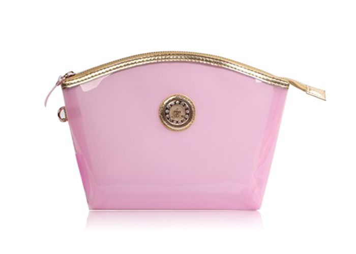 Fashion Style Transparent and Zip Design Women's Cosmetic Bag
