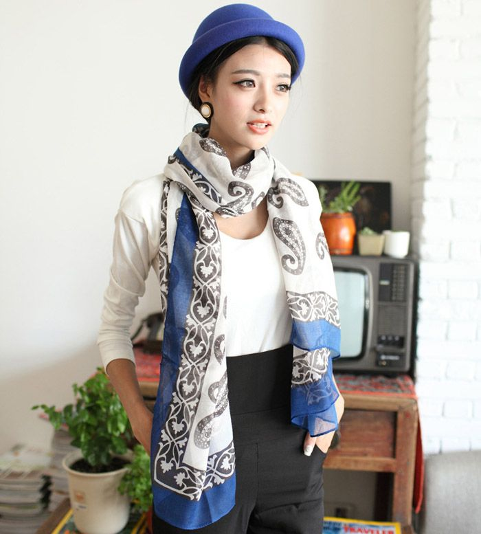 Refreshing Chic Style Paisley Pattern Scarf For Women