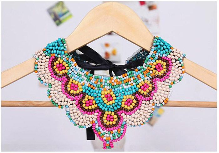 Bohemia Tiny Beads Design Fake Collar Necklace