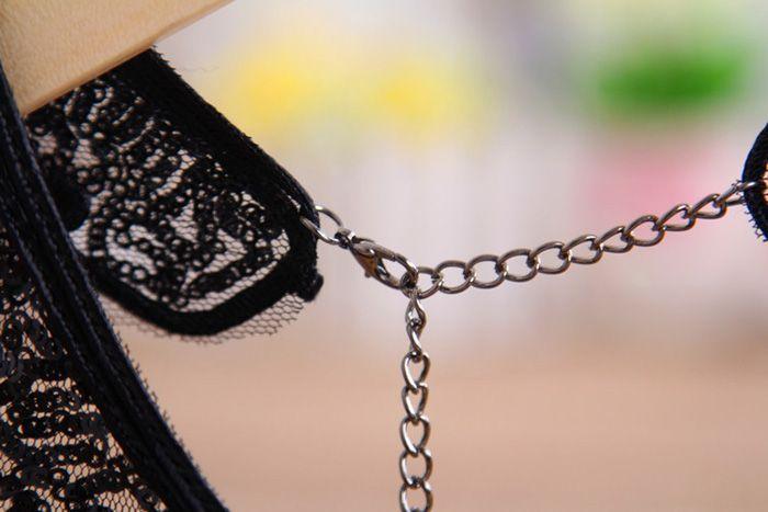 Lace Flower Design Openwork Fake Collar Necklace