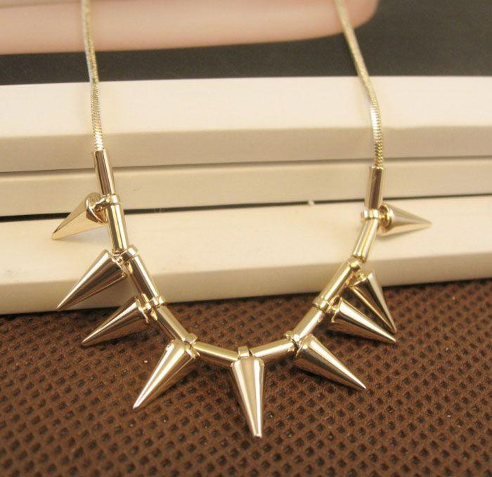 Fresh Style Rivet Embellished Alloy Necklace For Women
