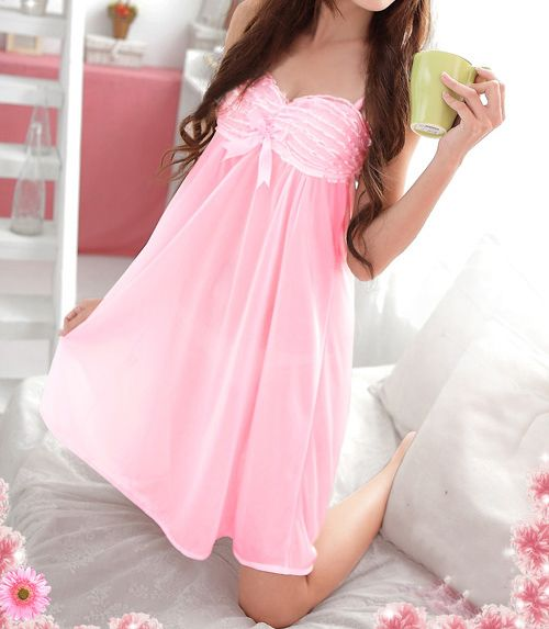 Charming Solid Color Sweet Style Women's Baby Dolls