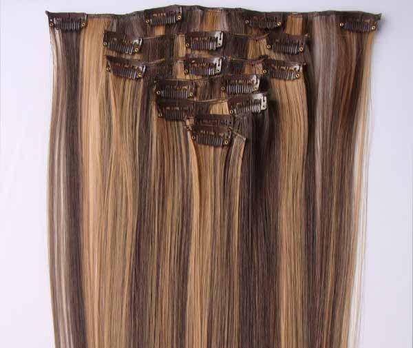 Stylish Long Straight High Temperature Fiber Women's Hair Extension(P4/27)