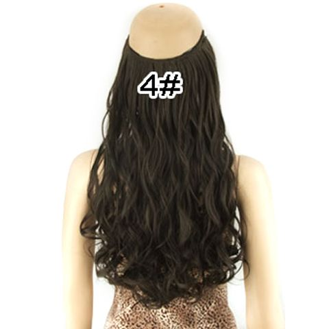 Fashion Fluffy Long Wavy High Temperature Fiber Hair Extension For Women