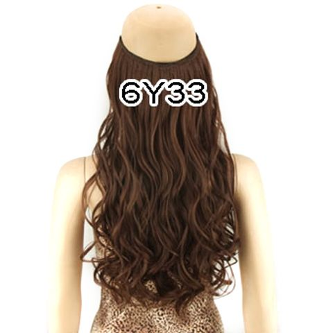 Fashion Fluffy Long Wavy High Temperature Fiber Hair Extension For Women