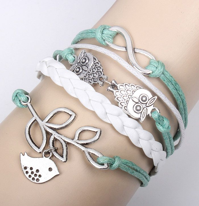 Trendy Retro Bird Leaf Decorated Bracelet For Women