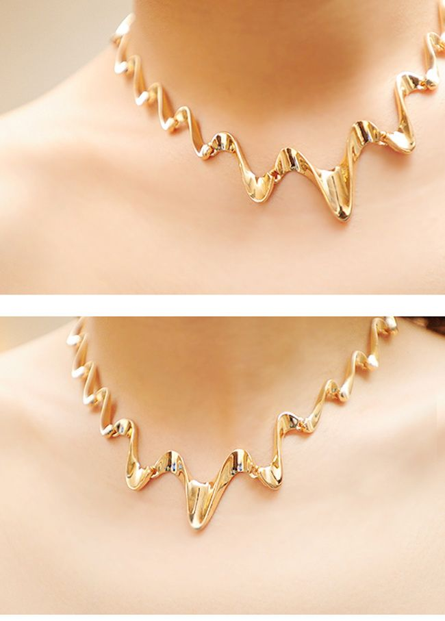 Wavy Shape Alloy Necklace