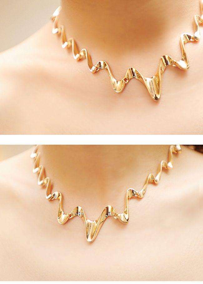 Wavy Shape Alloy Necklace