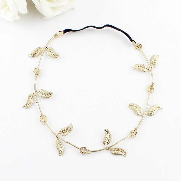 Vintage Leaf Embellished Hairband For Women
