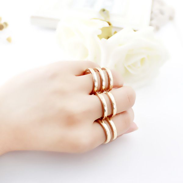 3PCS of Hollow Out Alloy Rings