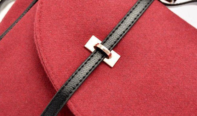 Fashion Buckle and Metallic Design Women's Crossbody Bag