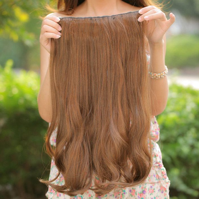 Charming Long Curled Fluffy High Temperature Fiber Hair Extensions For Women