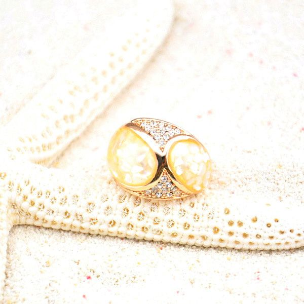Diamante Shell Embellished Alloy Ring