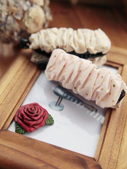 Cute Dot Embellished Ruffle Design Hairpin For Women
