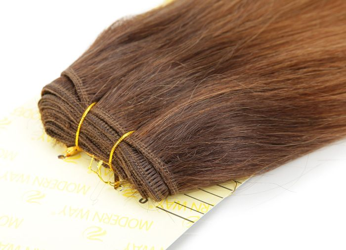 14 Inch Natural Silky Straight Light Brown Long Women's Hair Extension