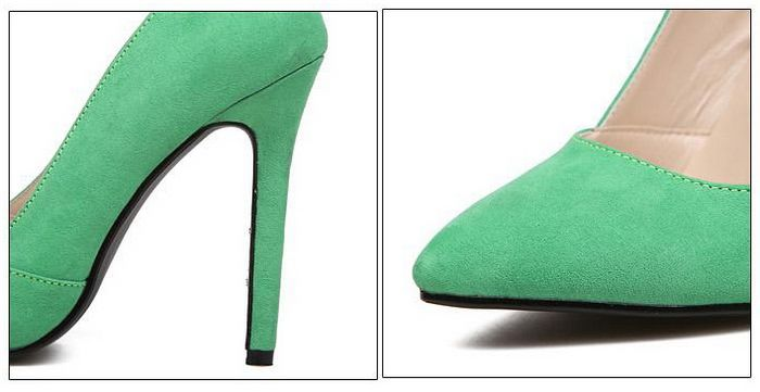Elegant Pointed Toe and Suede Design Women's Pumps