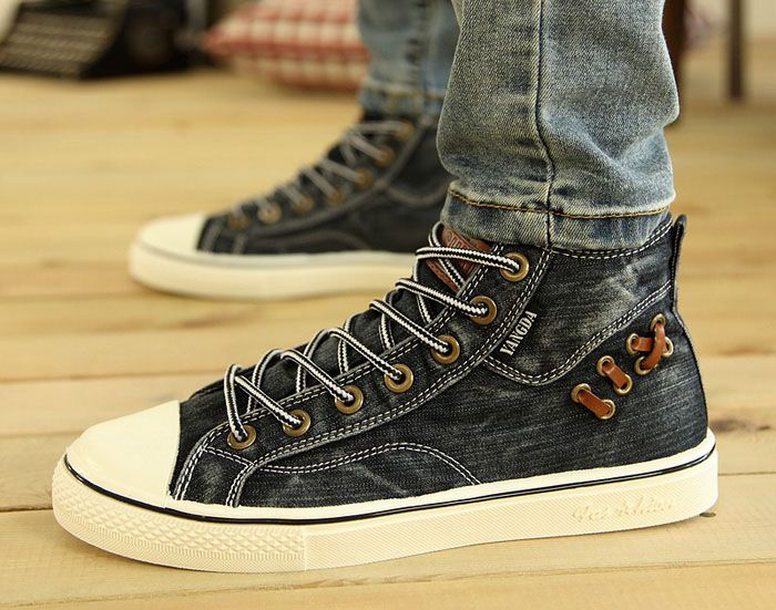 High Top Lace Up Canvas Shoes