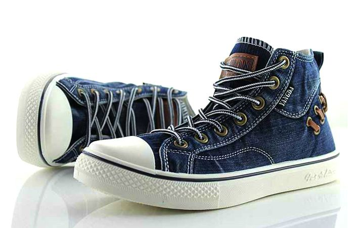 Retro Style Splice and Lace-Up Design Men's Canvas Shoes