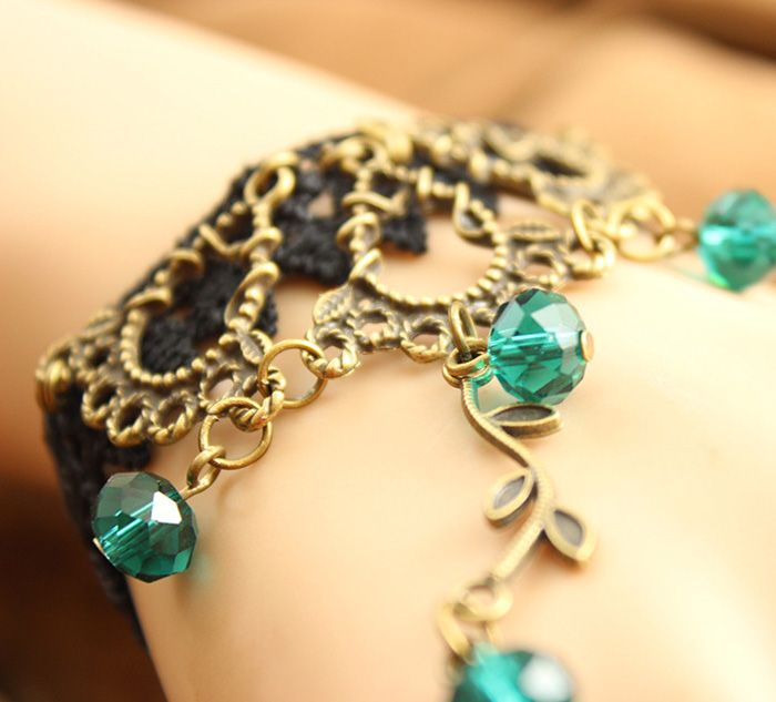 Fashionable Flower Openwork Beads Bracelet With Ring For Women