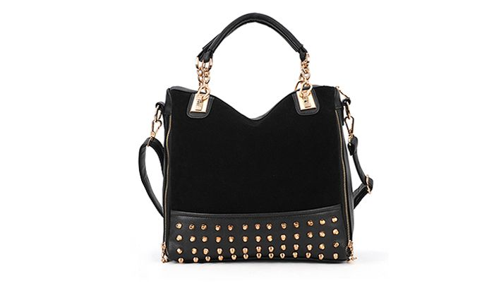 Fashion Rivets and Chains Design Women's Tote Bag
