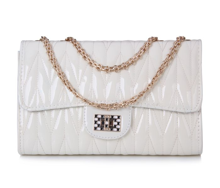 Elegant Chains and Solid Color Design Women's Shoulder Bag