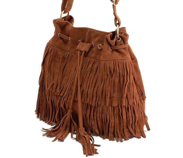 Retro Style Tassels and Suede Design Women's Crossbody Bag