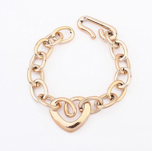 Openwork Heart Shape Bracelet