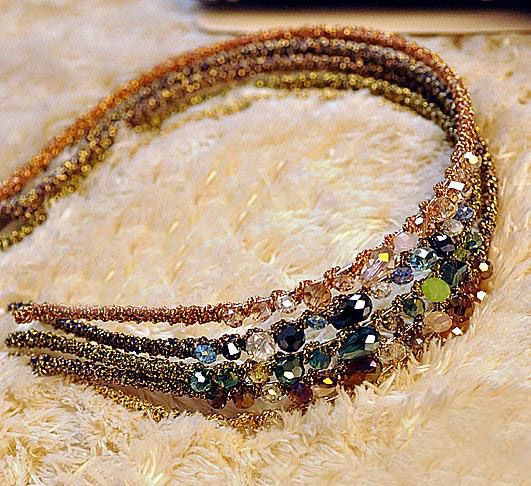 Fashionable Rhinestone Decorated Colorful Hairband For Women