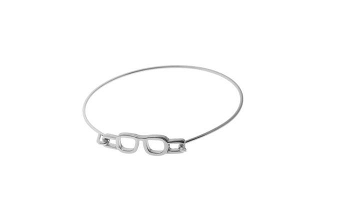 Simple Glasses Embellished Charm Bracelet For Women