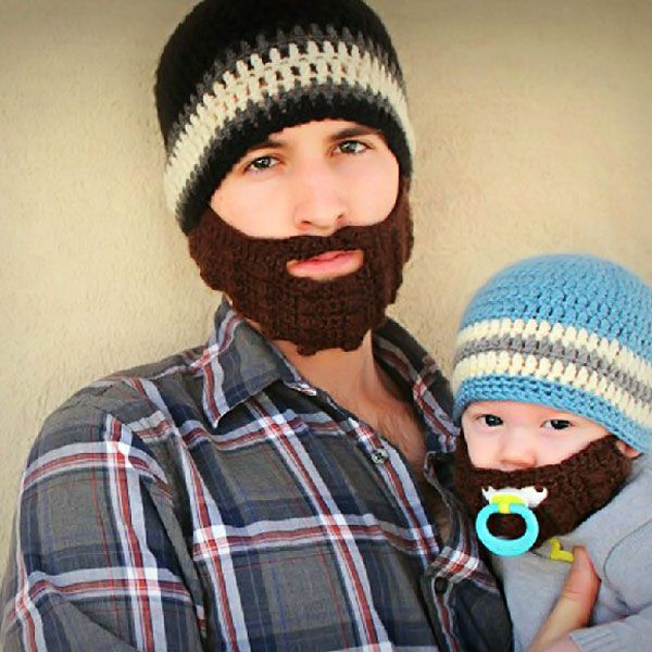 Valentine Unique Funny Woolen Hat and False Beard Masks Pure Manual