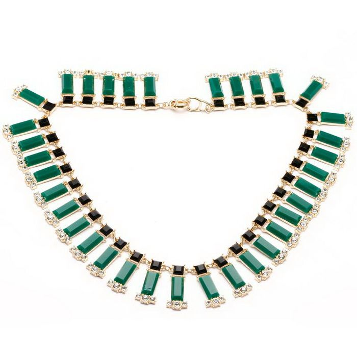 Exquisite Diamante Colored Faux Gemstone Fake Collar Necklace For Women