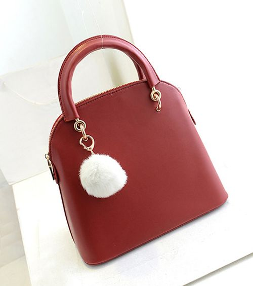 Elegant Pendant and Solid Color Design Women's Tote Bag