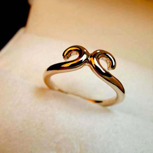 Hollow Design Alloy Ring