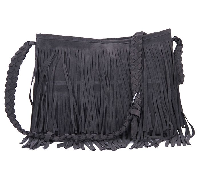 Fashion Fringe and Weaving Design Women's Crossbody Bag