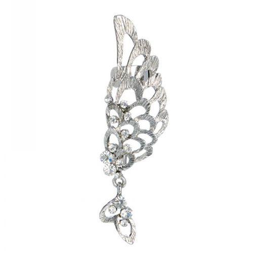 Alloy Rhinestone Angel Wing Earring