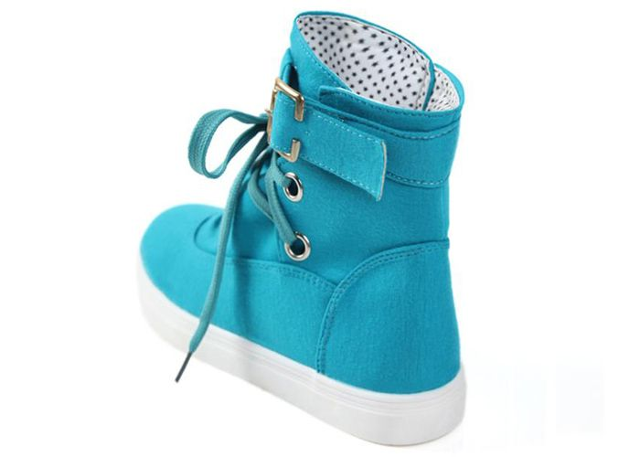 Fashion Buckle and Lace-Up Design Women's Boots