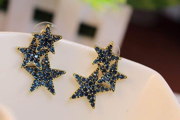 Pair of Star Shape Alloy Stud Earrings