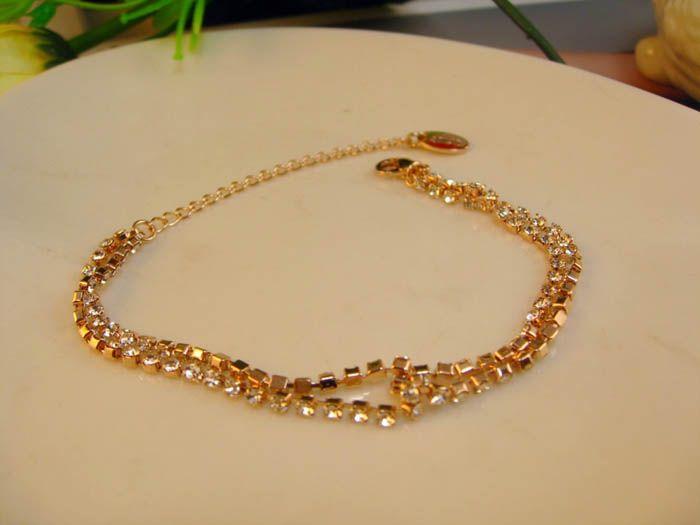Multilayered Adjustable Rhinestoned Bracelet