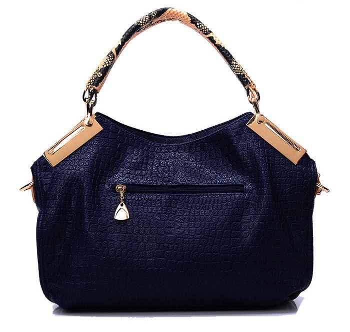 Pretty Metal and Crocodile Print Design Women's Tote Bag
