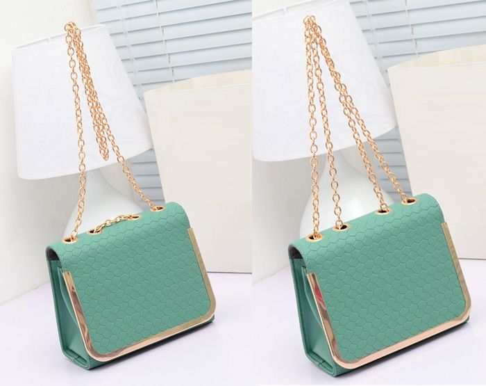 Party Chain and Candy Color Design Women's Shoulder Bag