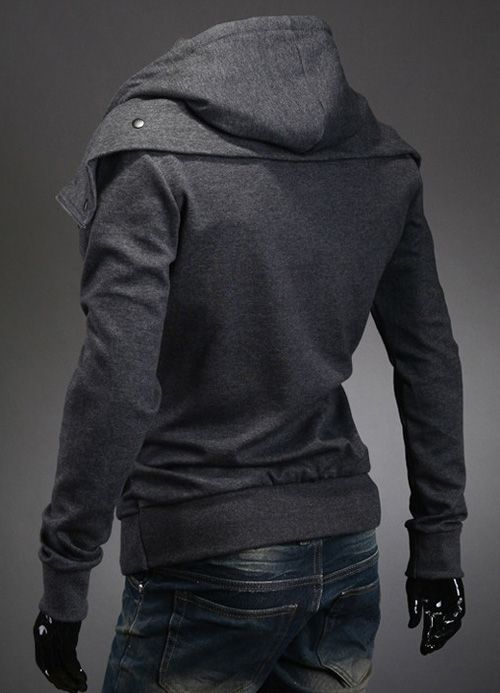 Stylish Faux Twinset Thicken Hooded Long Sleeve Slimming Cotton Blend Coat For Men